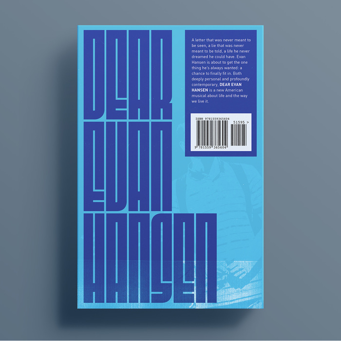 Dear Evan Hansen, back cover