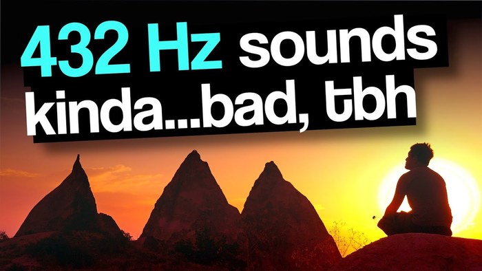 Thumbnail of Testing 432 Hz Frequencies (and temperaments) – his most recent video at the time of writing