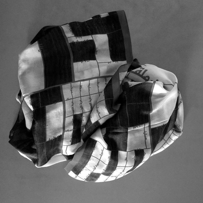 Visualizing Palestine scarf 2