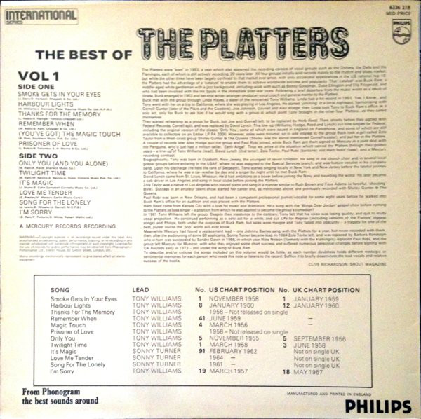 The Best of (Vol 1 & 2) — The Platters - Fonts In Use