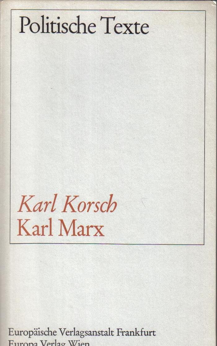 Karl Marx by Karl Korsch, 1967
