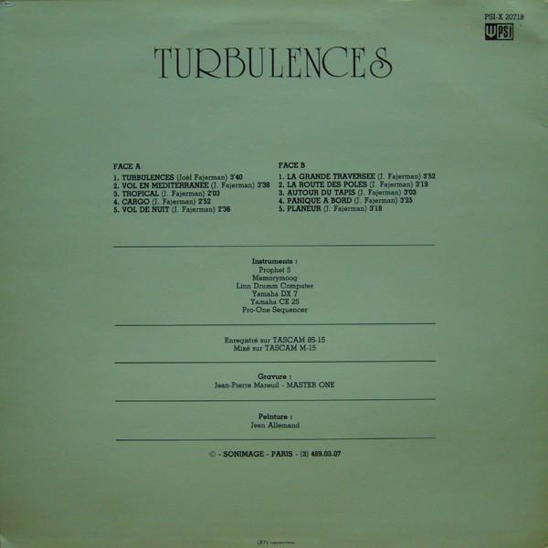 Joël Fajerman – Turbulences album art 2