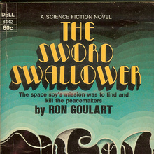 <cite>The Sword Swallower</cite> by Ron Goulart (Dell)