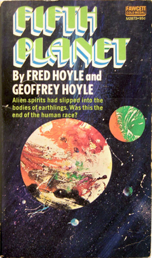 <cite>Fifth Planet</cite> by Fred and Geoffrey Hoyle (Fawcett)