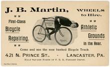 John B. Martin, Bicycle Trick Rider, Lancaster, Pa.