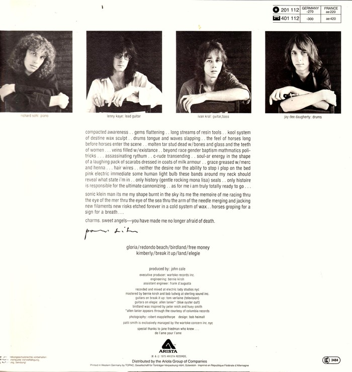 Most of the back cover is set in all lowercase letters. The images show the German release.