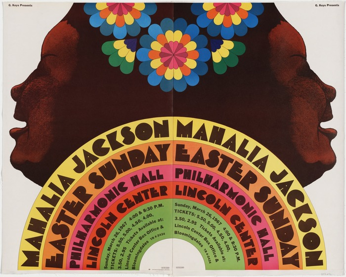 Mahalia Jackson at Lincoln Center Philharmonic Hall concert poster 2