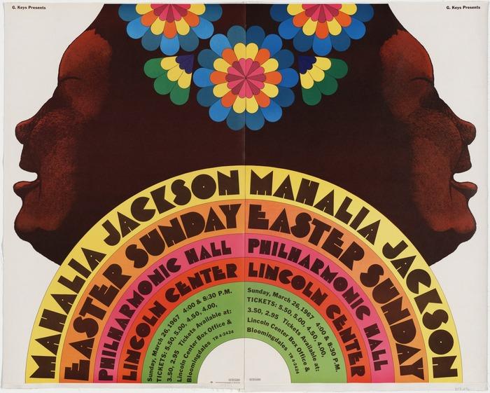 Mahalia Jackson concert poster 2