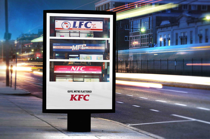 KFC: AFC–ZFC outdoor ad campaign 5