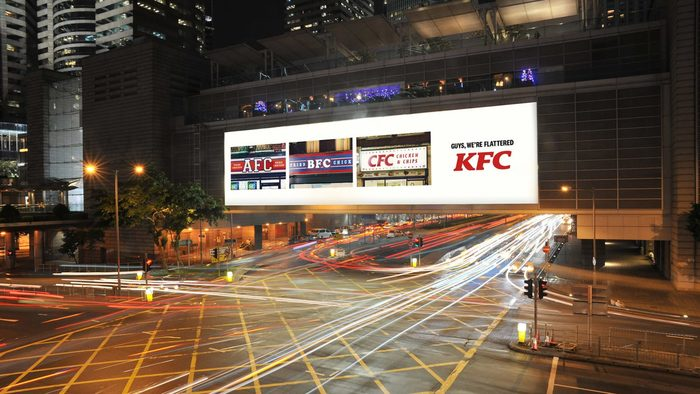 KFC: AFC–ZFC outdoor ad campaign 6
