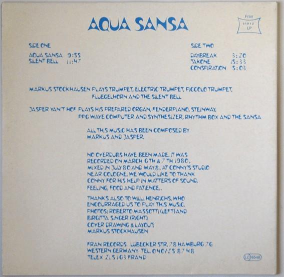 Aqua Sansa – Markus Stockhausen/Jasper Van't Hof 2