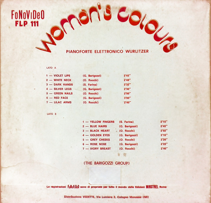 The Barigozzi Group – Woman's Colours album art 2