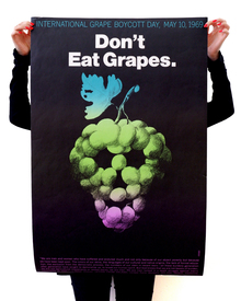 """Don't Eat Grapes."" poster"
