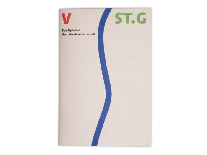 The cover shows the river Rhine which marks the border between Vorarlberg (Austria) and St. Gallen (Switzerland).