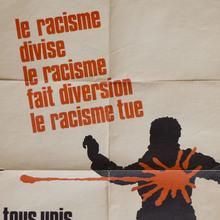 """""""Le racisme divise"""" poster"""