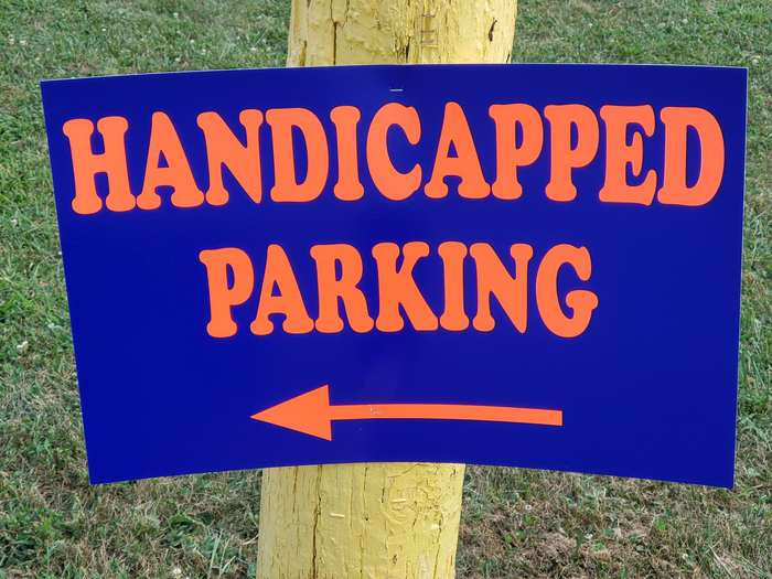 Cooper Black is also used on a handicapped parking sign.