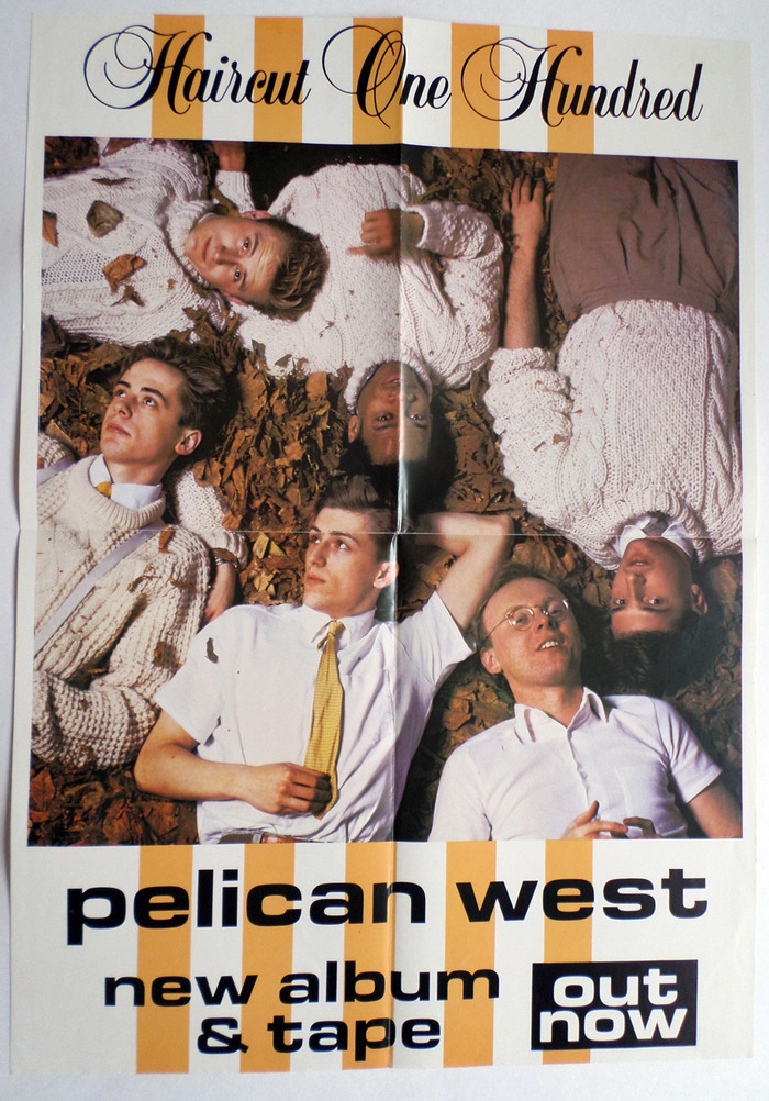 For the release poster, Peter Hill used the same band photo and paired it with  Bold Extended and  (Letraset, 1978).
