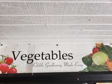 """Vegetables"" sign, Duda's Farm Store"
