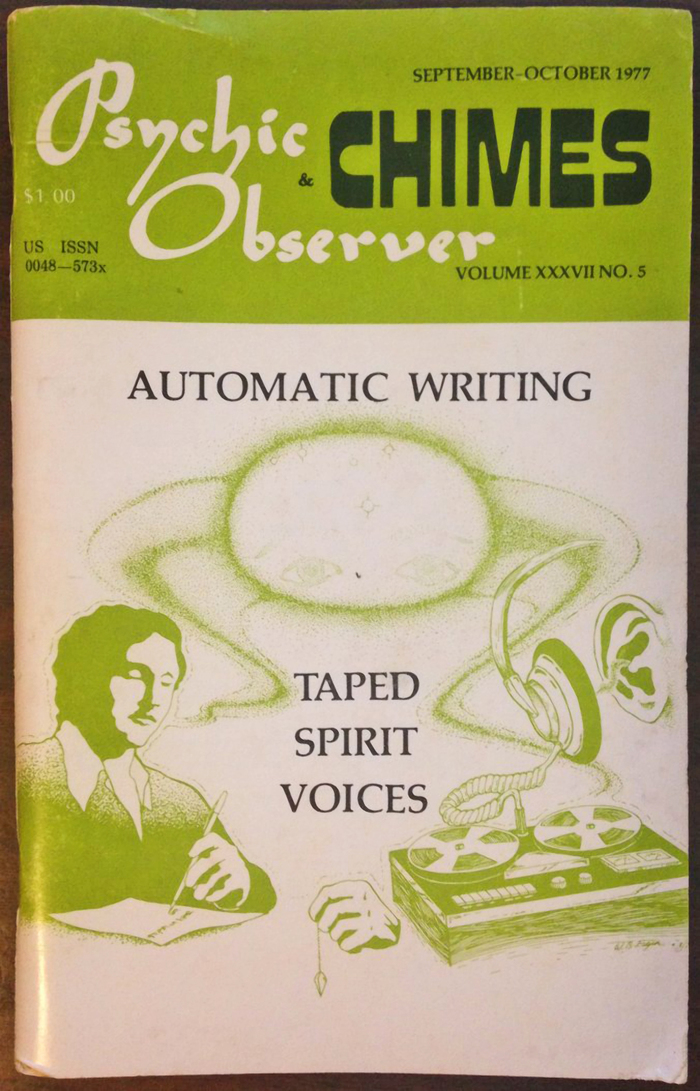 Psychic Observer & Chimes, Vol. XXXVII No. 5, Sep–Oct 1977. The cover typeface is .