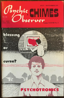 <cite>Psychic Observer &amp; Chimes</cite> magazine logos and covers