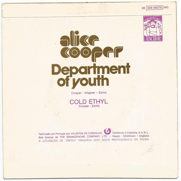 "Alice Cooper – ""Department Of Youth"" Portuguese single cover 2"