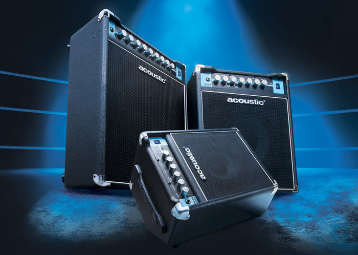 Product shots of Guitar Center's Acoustic Amplification.
