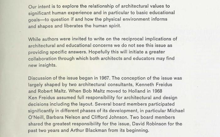 Editorial statement (detail).