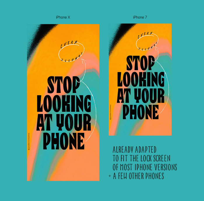 """Stop Looking at Your Phone"" wallpaper 3"