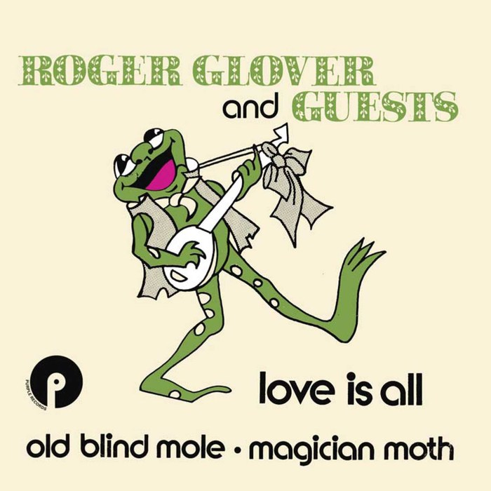 """Roger Glover and Guests – """"Love Is All"""" Dutch single cover"""