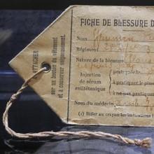 Fiche de blessure de guerre, Mémorial de Verdun