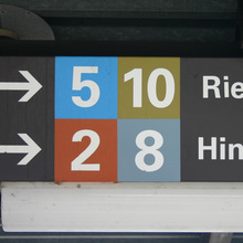 St. Gallen tram signs