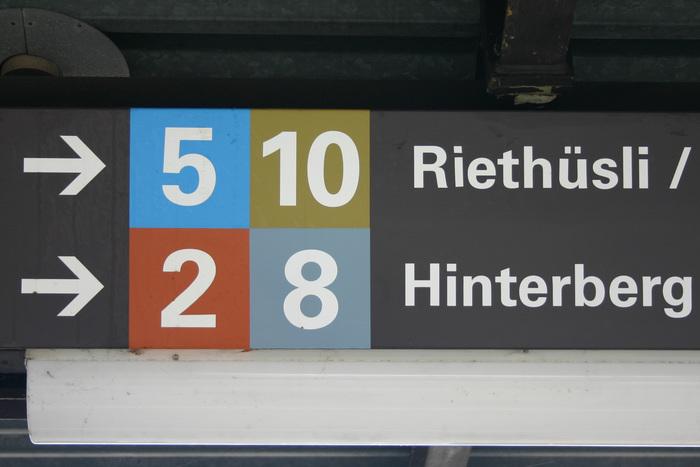 St. Gallen tram signs 1