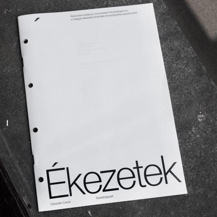 Ékezetek (Diacritics) thesis 1