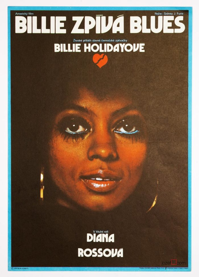 Billie zpívá blues (original title: Lady Sings the Blues), USA, 1972. Directed by Sidney J. Furie. Featuring Diana Ross, Billy Dee Williams, Richard Pryor.