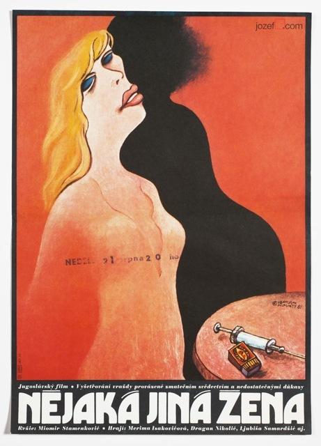"""Nějaká jiná žena (""""The Other Woman"""", original title: Neka druga žena) Yugoslavia, 1981. Directed by Miomir Stamenković. Featuring Merima Isaković, Dragan Nikolić, Ljubiša Samardžić."""