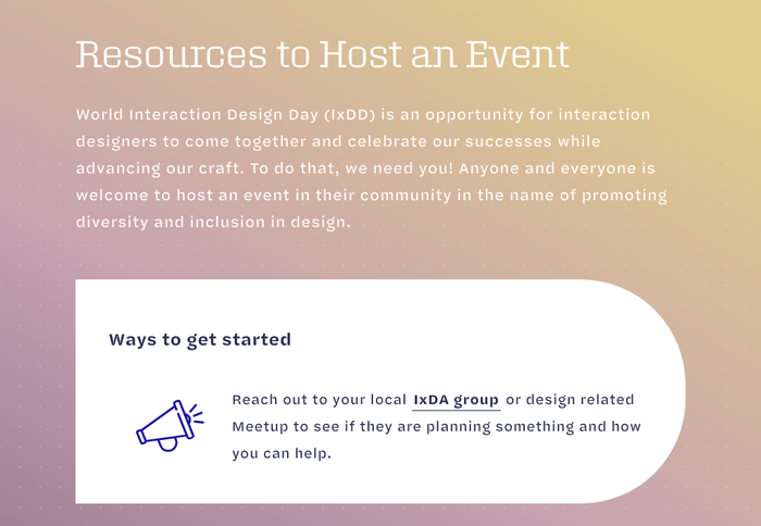 Resources to Host an Event