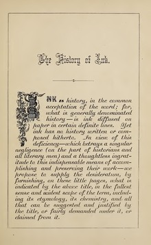 <cite>The History of Ink, Including Its Etymology, Chemistry, and Bibliography</cite>