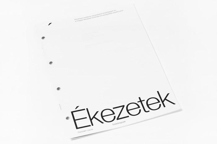 Ékezetek (Diacritics) thesis 2