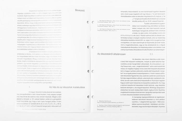 Ékezetek (Diacritics) thesis 3