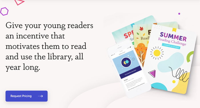The Reading Challenge materials combine Museo Sans Rounded (with alternating glyph colors) and Dapifer.