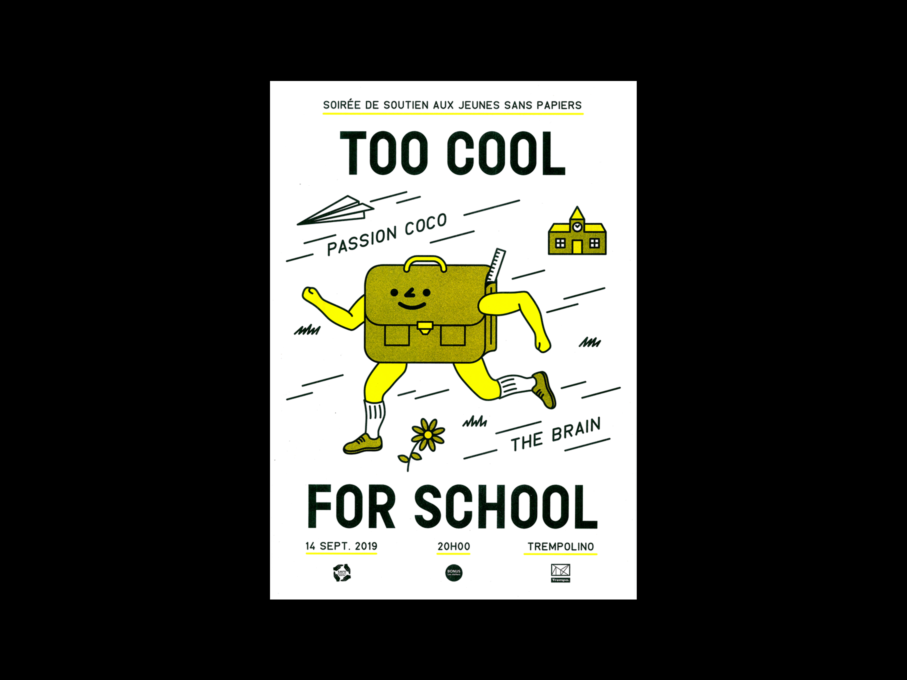 Too Cool for School fundraiser - Fonts In Use