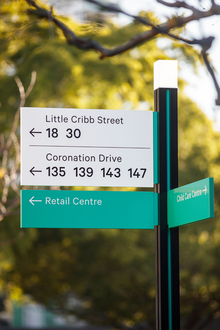 Milton Green wayfinding and signage