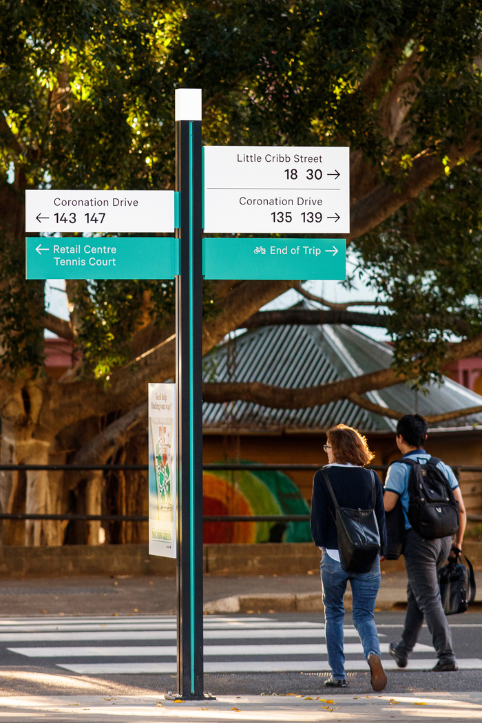 Milton Green wayfinding and signs 2