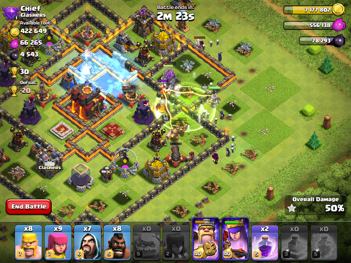 Clash of Clans gameplay.