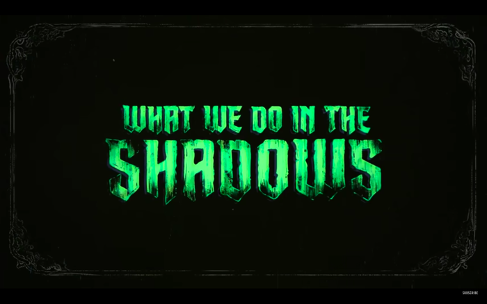 Logo version with textured letters as seen in the first look trailer.