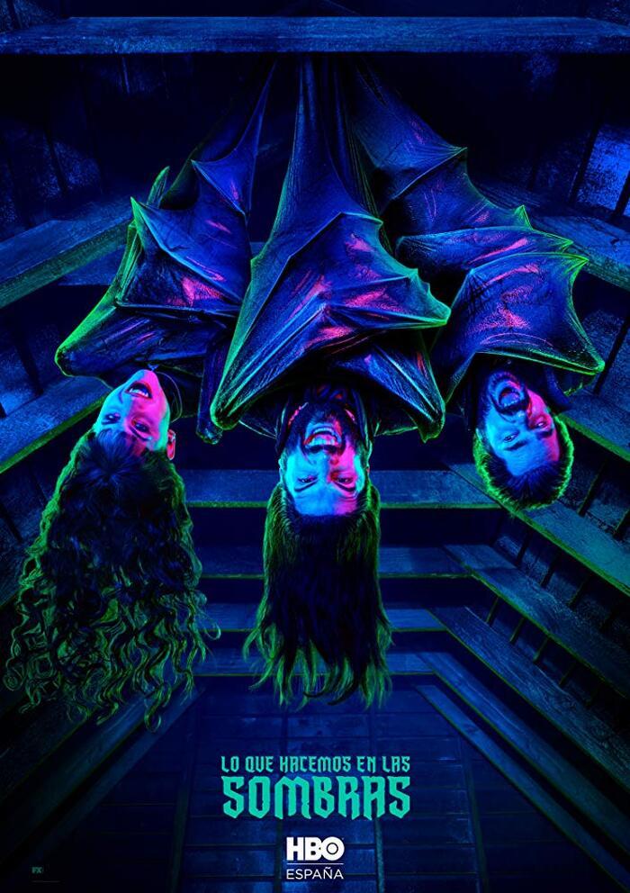 Lo que hacemos en las sombras – Spanish announcement poster for HBO España.