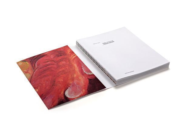 Swiss-style brochure; softcover with flaps, exposed binding.