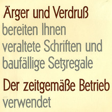 """Ärger und Verdruß"" ad by Gebr. Klingspor"