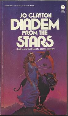 <cite>Diadem from the Stars</cite> by Jo Clayton (DAW Books)