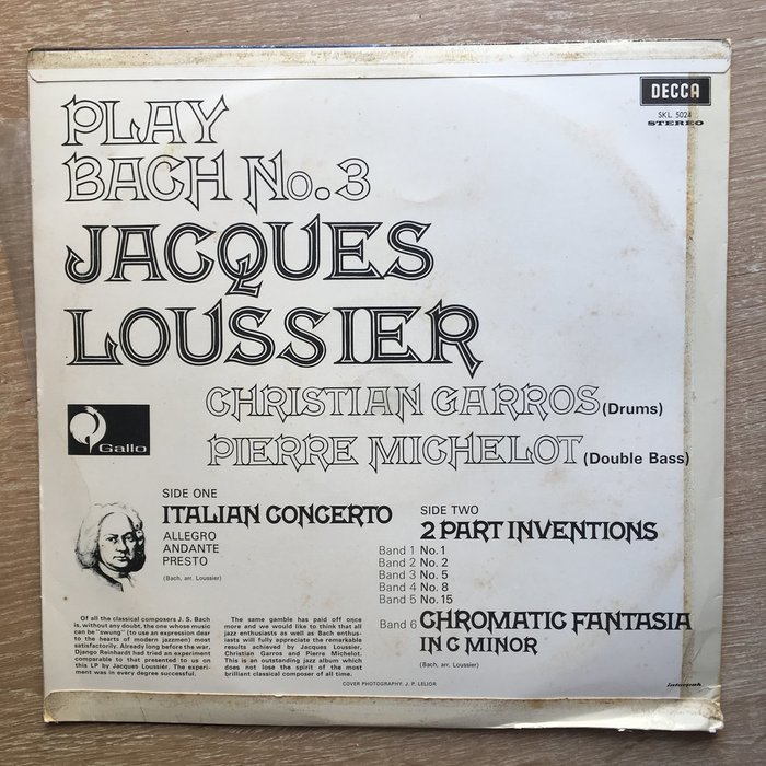 Jacques Loussier – Play Bach 6